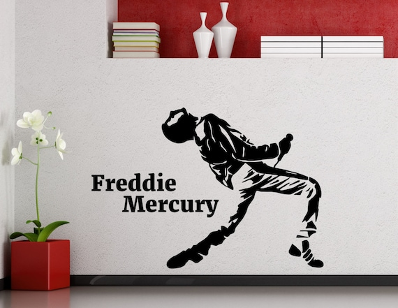 How To Remove Stickers From Metal >> Freddie Mercury Wall Decal Queen Metal Rock Music Band Vinyl