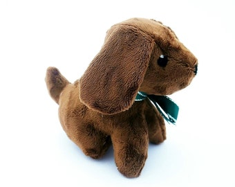 Stuffed toy puppy. Exclusively Handmade. Plush dog. Small toy dog.Plush toy puppy.