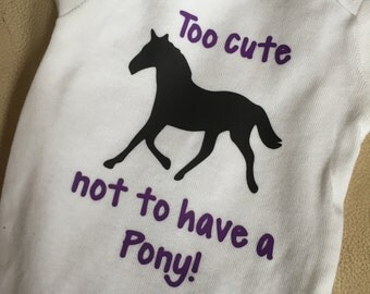 Too cute not to have a pony onesie