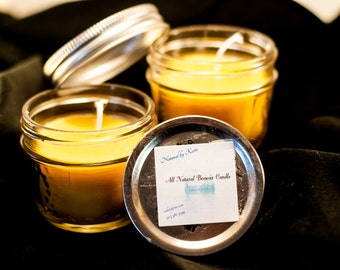 All Natural Aromatherapy Beeswax Candle