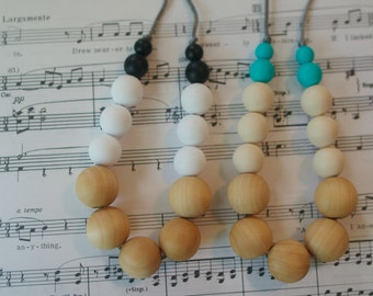 The Suzie Wood Primary and Silicone Teething Friendly Necklace
