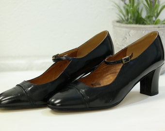 Shoes VINTAGE style Baby JP RENE leather