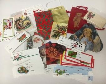 Vintage Christmas Gift Tag Assortment Lot Holiday Gift Tags