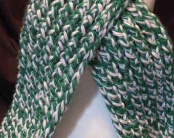 Green/White Winter Scarf