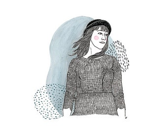 Custom Illustration (portrait with color)