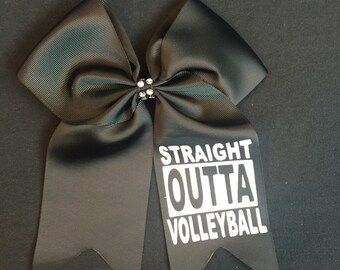 Volleyball Bow / Nike Volleyball / Straight Outta Volleyball Hair Bow