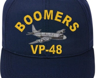 VP-48 Boomers  P-3 Orion Direct Embroidered Cap    New