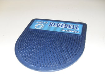 Vintage - Ask For Bluebell Matches.. Rubber Change Mat..MINT CONDITION -Made In Scotland !