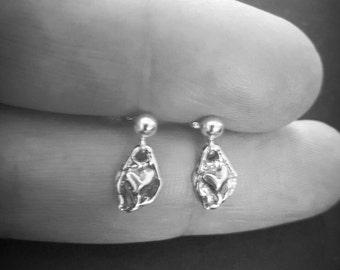 STERLING SILVER HEART Earrings - Artisan Jewellery