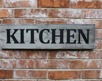 Kitchen Sign, Country Kitchen Sign, 8X28 Sign, Kitchen Wall Decor Sign, Sign for Kitchen, Handmade Kitchen Sign, Farmhouse Kitchen Sign,
