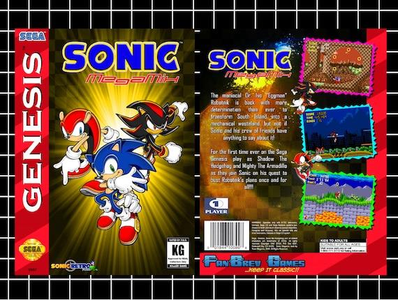 IN STOCK Sonic MegaMix Custom Sega Genesis FanBrew by ...