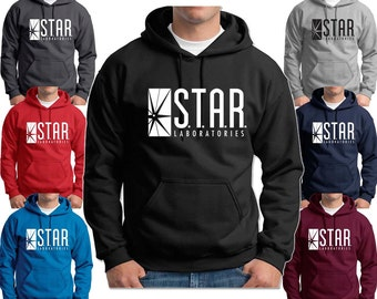 STAR Labs Hoodie Sweatshirt Halloween Costume Dr Wells Cosplay Adult, Youth Hoodies