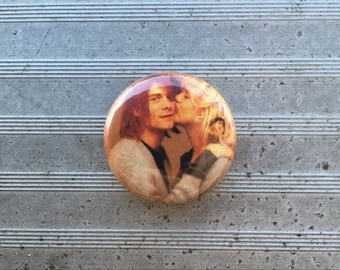 "Kurt Cobain & Courtney Love 1"" Button"
