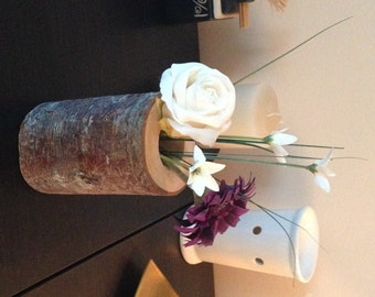 Natural Wood Vase Centrepiece