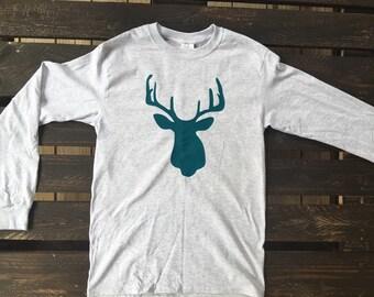 Deer Silhoette Long Sleeve Shirt