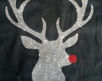Sparkled Rudolf with Small Monogram on the Front