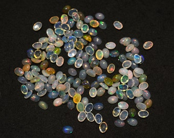 5x7mm Calibrated Ethiopian Opal Cabochon, Welo Opal, Oval Shape Cabochon, 20 Pieces