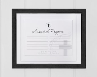 Answered Prayer Black Frame
