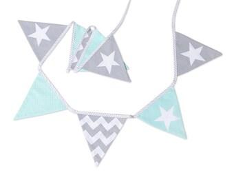 Garland Triangle Bunting Banner Fresh Mint