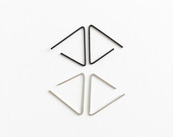 Triangle wire earrings, geometric, minimal earrings