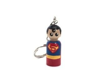 Superman Peg Doll Keychain