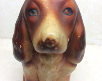 Vintage dog - cocker spaniel - 1950s kitsch dog - mid century ornament - pot dog