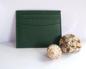 Fair Trade Green Leather Card Holder