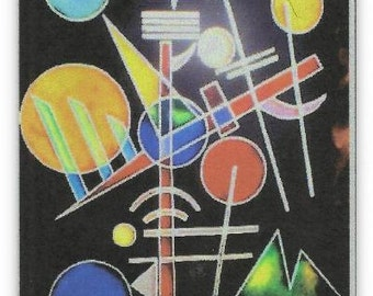 "Kandinsky ""Composition"". Painting on glass."