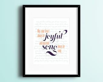 Forever Young Lyrics Print