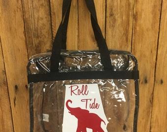 Alabama Game Day CLEAR Tote; Bama Gameday Bag