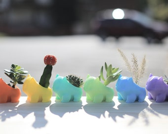 3D Printed Planter /Cute /Best Gift /Pokemon /Pocket Animal /Succulent /Pikachu /Bulbasaur /Cartoon Accessories /Christmas Gift
