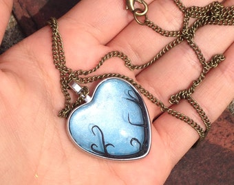 Blue Ivy Heart Necklace{discounted 30%off}