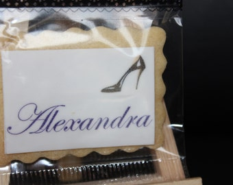 Finished the sugar plum, choose 2 custom cookies printed for your wedding in individual bag - Unique, original, impress your guests!