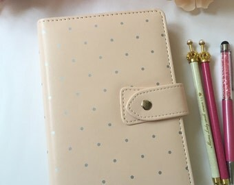 Personal Planner Ring Binder, Peach Agenda, Personal Agenda with Inserts Included, Personal Planner Kit, Personal Planner Dividers