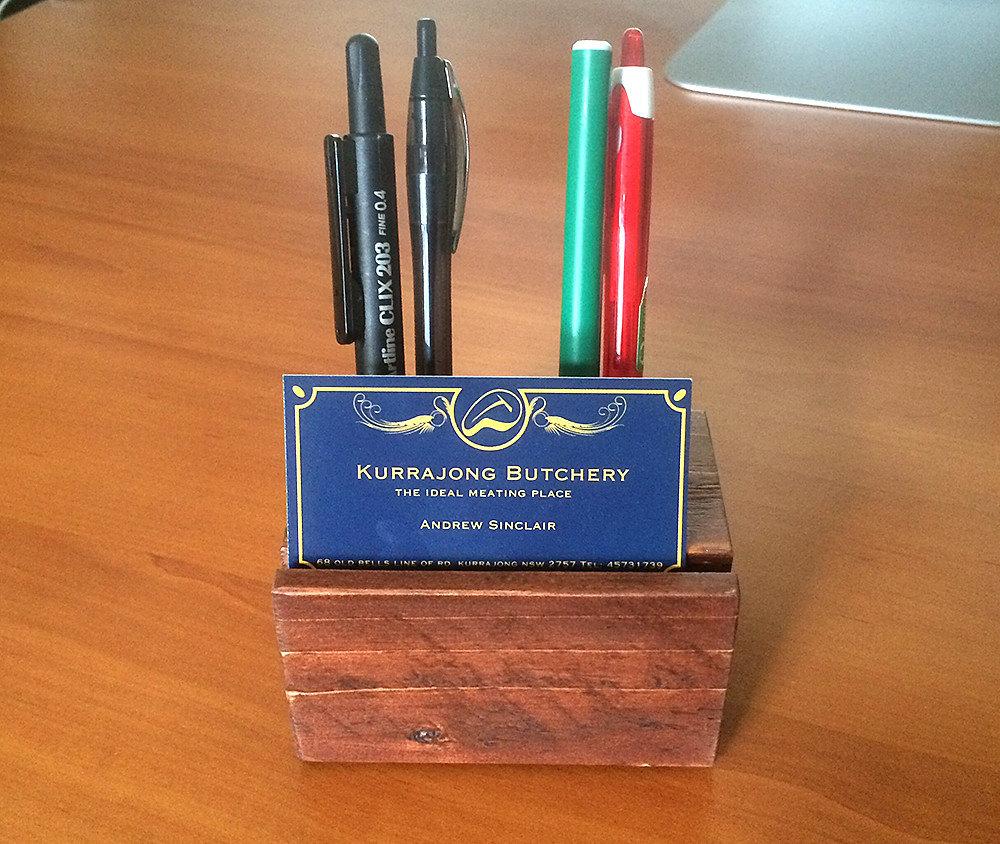 Desk Organiser Business Card Holder Pen Holder Recycled