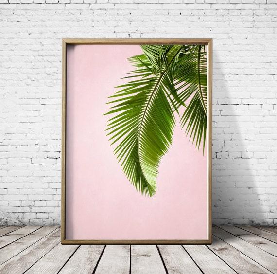 Palm Leaf Print Palm Leaves Palm Print Tropical Leaf Palm Art