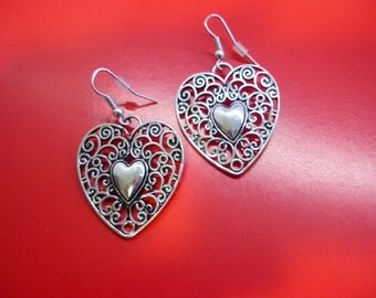 "Earrings ""heart filigree"