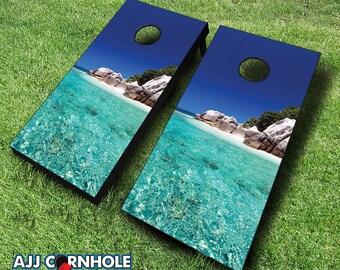 Tropical Escape Cornhole Set with Bags - Cornhole Set - Cornhole - Quality Cornhole Set - Cornhole game - Tropical Escape Cornhole Set