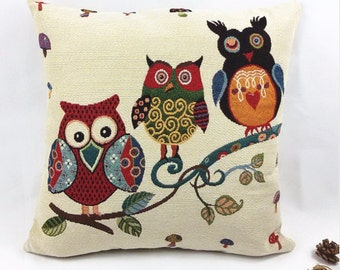 3 Owls - Pillow Cover
