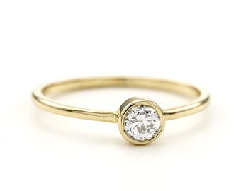 Old European Diamond Ring / Engagement Ring / Diamond Solitaire /