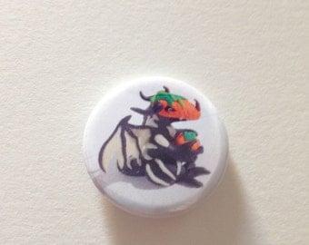 Limited Edition pumpkin head Dragon Pin Badge/Button 25mm