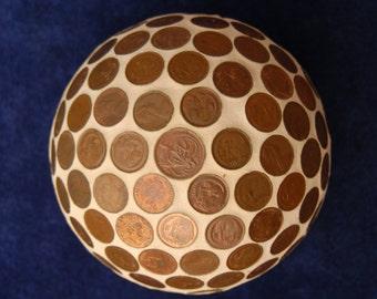 Mosaic Coin  ball with Australian coins