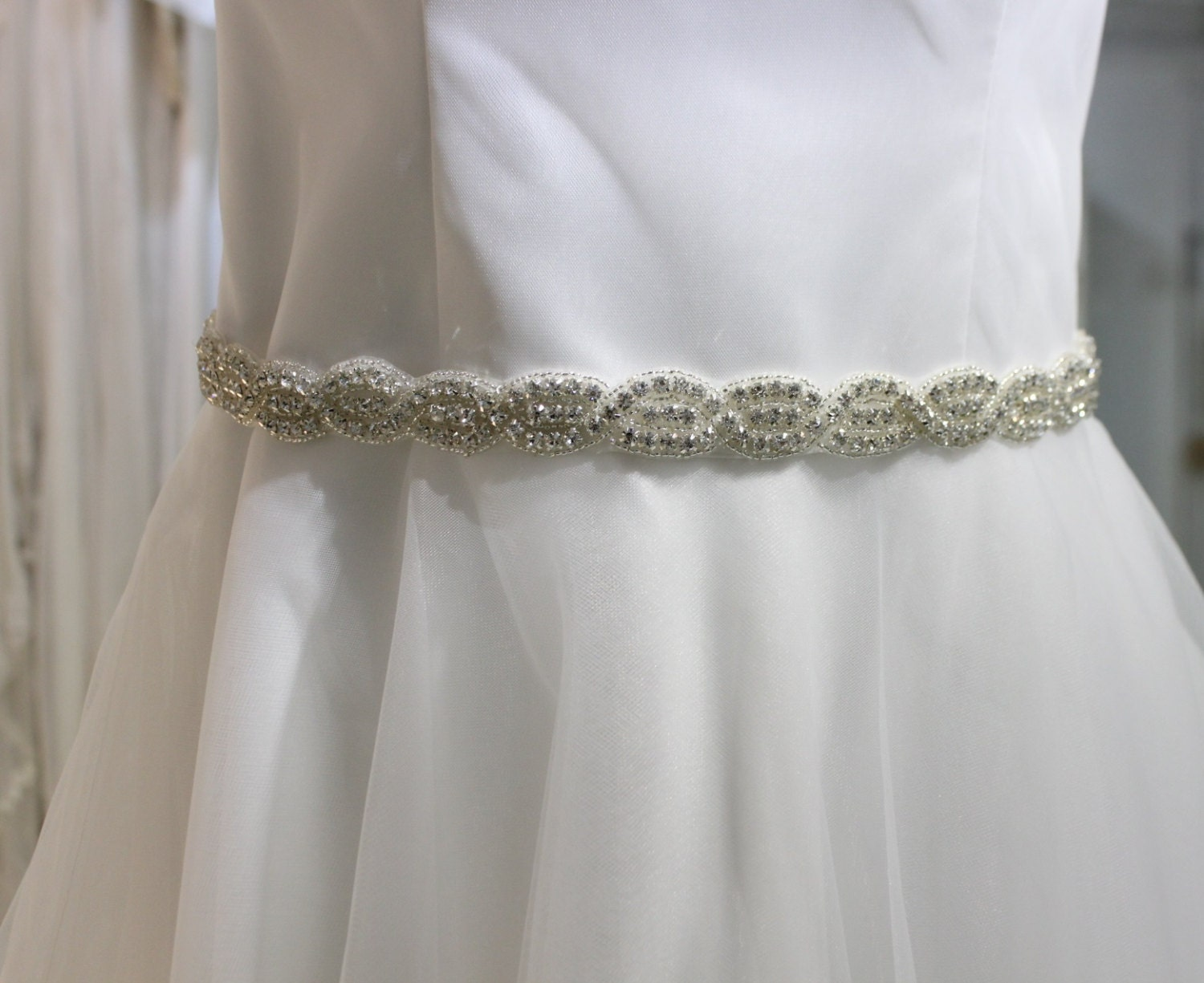 deco wedding dress sash bridal evening gown belt