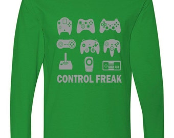 Long Sleeve: Control Freak Gamer Controllers Shirt