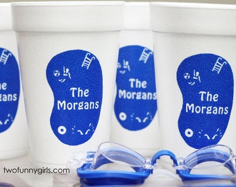Custom Styrofoam Cups with Swimming Pool