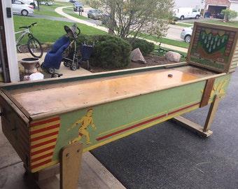 1949 VINTAGE Bally Shuffle Bowler Arcade Machine
