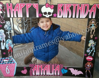 Monster High Frame / Photo Booth / Photo Prop Digital File