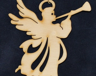 Angel (6) Ornament~Wood~Personalized FREE