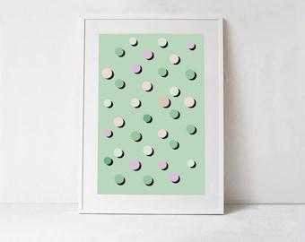 Mint Green Wall Art, Green Printable Art Large Wall Art INSTANT DOWNLOAD Print, Mint Green Print, Green Nursery Decor, Green Abstract Prints