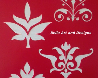 Floral Deco Stencil sets *Free gift with every order*